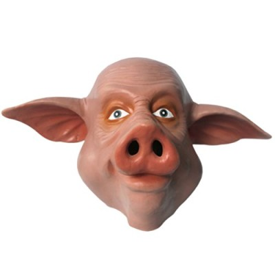 KingMas-Halloween-Creepy-Pig-head-latex-Mask-0