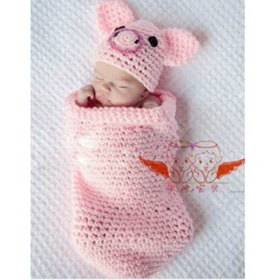 Lowestbest-Newborn-Toddler-Crochet-Piggy-Pig-Hat-in-Pink-Baby-Girl-Boy-Shower-Party-Costume-Photo-Props-0-12-Month-0