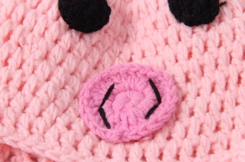 Newborn Toddler Crochet Piggy Pig Hat in Pink Baby Girl Boy Shower ...
