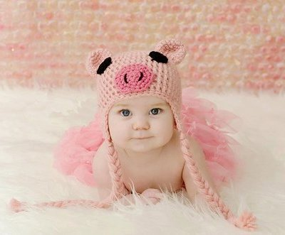 Newborn-Toddler-Crochet-Piggy-Pig-Hat-in-Pink-Baby-Girl-Boy-Shower-Party-Costume-Photo-Props-0-12-Month-0