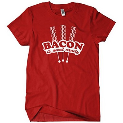 BACON-IS-MEAT-CANDY-Womens-T-Shirt-Tee-Funny-Carnivore-Pork-Pig-Lovers-Breakfast-0