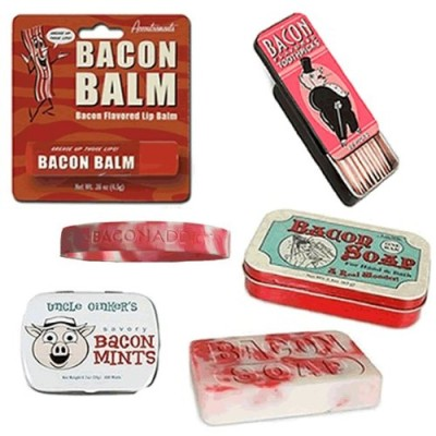 Bacon-Bath-Grooming-Kit-Gift-Pack-4pc-Set-Bacon-Soap-Toothpicks-Breath-Mints-Lip-Balm-Silicone-Wristband-0