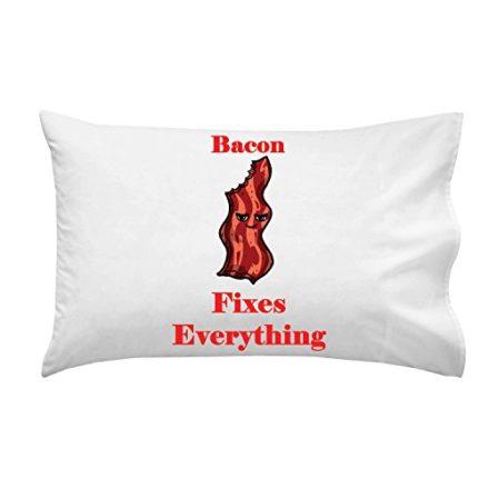 Bacon-Fixes-Everything-Food-Humor-Cartoon-Pillow-Case-Single-Pillowcase-0