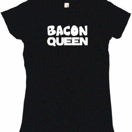 Bacon-Queen-Womens-Tee-Shirt-Medium-Black-Babydoll-0