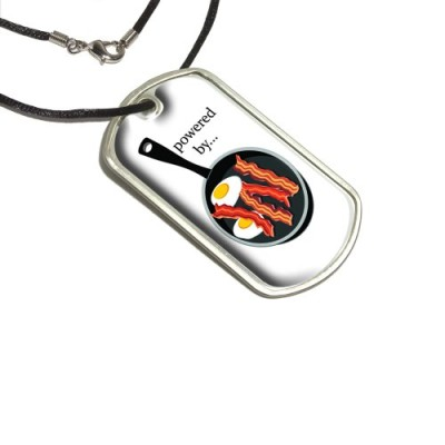 Bacon-and-Eggs-Powered-By-White-Breakfast-Military-Dog-Tag-Black-Cord-0