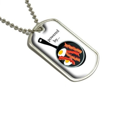 Bacon-and-Eggs-Powered-By-White-Breakfast-Military-Dog-Tag-Keychain-0