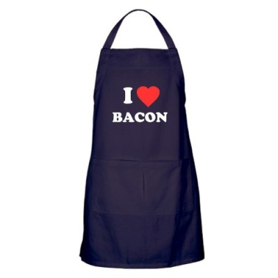 CafePress-I-Love-Bacon-Apron-dark-Standard-Navy-0