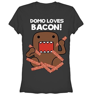 Domo-Loves-Bacon-Young-Womens-M-Graphic-T-Shirt-Fifth-Sun-0