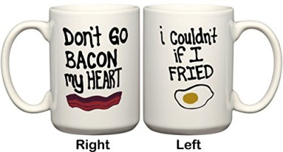 Dont-Go-Bacon-My-Heart-I-Wouldnt-If-I-Fried-11-or-15-oz-1-Mug-With-2-Different-Designs-On-Front-Back-by-BeeGeeTees-15-oz-0