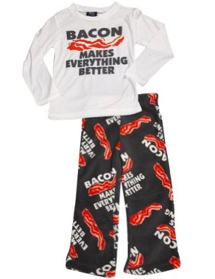 Fun-Kidz-Little-Boys-Long-Sleeve-Bacon-Makes-Pajamas-White-Grey-34741-67-0