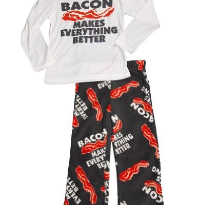Fun-Kidz-Little-Boys-Long-Sleeve-Bacon-Makes-Pajamas-White-Grey-34741-67-0