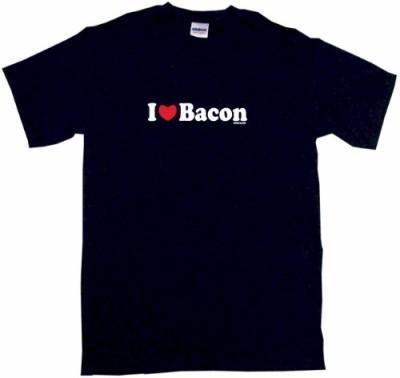 I-Heart-Love-Bacon-Kids-Tee-Shirt-Youth-Medium-Black-0