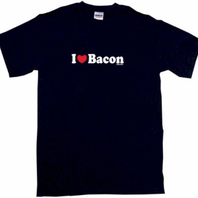 I-Heart-Love-Bacon-Kids-Tee-Shirt-Youth-Medium-Black-0