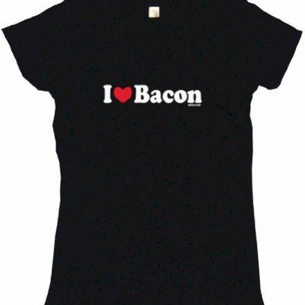 I-Heart-Love-Bacon-Womens-Tee-Shirt-XL-Black-Babydoll-0