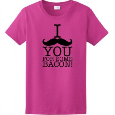 I-Mustache-You-For-Some-Bacon-Ladies-T-Shirt-Medium-Heliconia-0