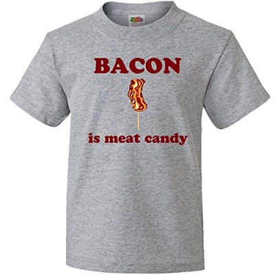 Inktastic-Big-Boys-Bacon-Is-Meat-Candy-Youth-T-Shirts-Youth-Large-Athletic-Heather-0