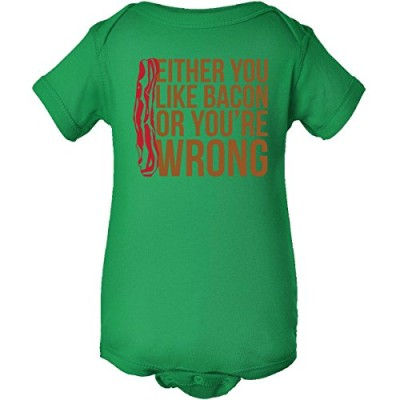 Inktastic-Unisex-Baby-Either-You-Like-Bacon-Infant-Creeper-12-Months-Kelly-Green-0
