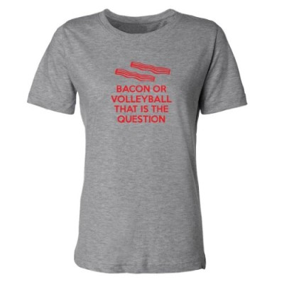 Mashed-Clothing-Bacon-Or-Volleyball-That-Is-The-Question-Womens-T-Shirt-Heather-Grey-Medium-0