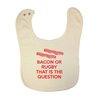 Mashed-Clothing-Unisex-Baby-Bacon-Or-Rugby-That-Is-The-Question-Organic-Baby-Bib-0