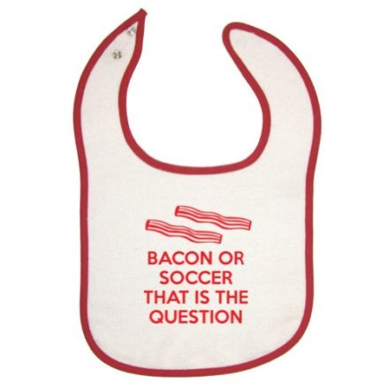 Mashed-Clothing-Unisex-Baby-Bacon-Or-Soccer-That-Is-The-Question-Red-Piping-Bib-0