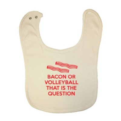 Mashed-Clothing-Unisex-Baby-Bacon-Or-Volleyball-That-Is-The-Question-Organic-Baby-Bib-0