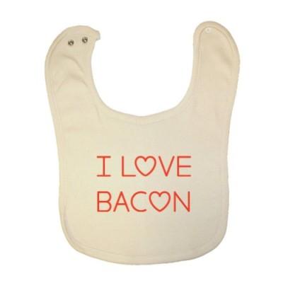 Mashed-Clothing-Unisex-Baby-I-Love-Bacon-Organic-Baby-Bib-0