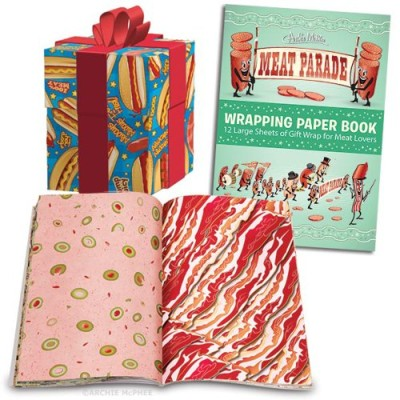 Meat-Parade-Gift-Wrapping-Paper-Book-w-12-Tear-Out-sheets-of-Meaty-Wrapping-Paper-0