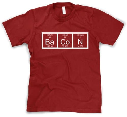 ef59a1f8 Mens Chemistry Bacon TShirt Funny Science Periodic Table Breakfast ...
