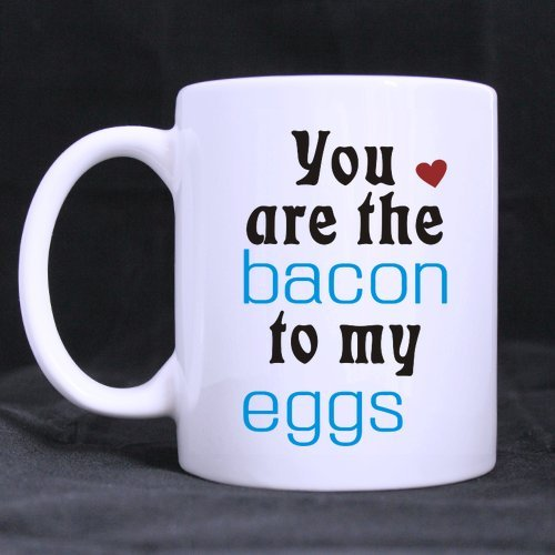 personalized you are the bacon to my egg white coffee or tea mug