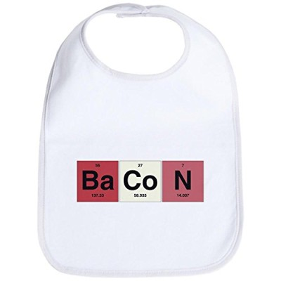 Royal-Lion-Baby-Bib-Bacon-Periodic-Table-of-Elements-Cloud-White-0