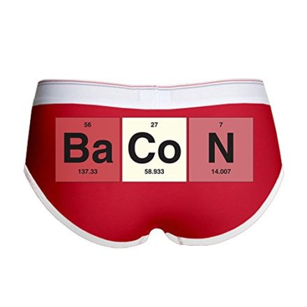 Royal-Lion-Womens-Boy-Brief-Underwear-Bacon-Periodic-Table-of-Elements-RedWhite-Large-0