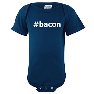 ShirtLoco-Baby-Hash-Tag-Bacon-Creeper-Bodysuit-Navy-6-Months-0