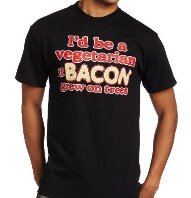 T-Line-Mens-Humor-Bacon-Tee-Black-Large-0