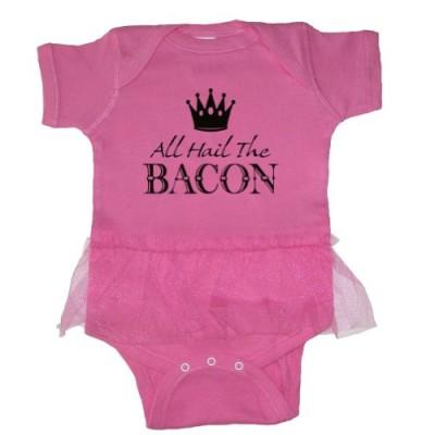 Tasty-Threads-Baby-Girls-All-Hail-The-Bacon-Black-Print-Tutu-Bodysuit-Raspberry-12-Months-0