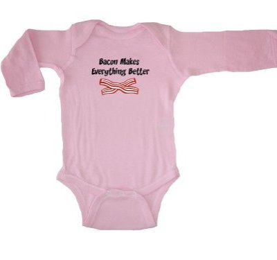 Tasty-Threads-Unisex-Baby-Bacon-Makes-Everything-Better-Long-Sleeve-Bodysuit-Pink-6-Months-0