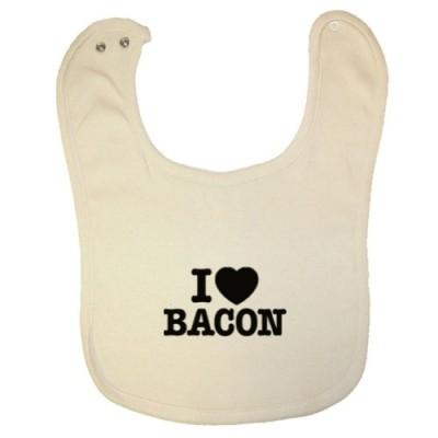 Tasty-Threads-Unisex-Baby-I-Love-Heart-Bacon-Black-Print-Organic-Baby-Bib-0
