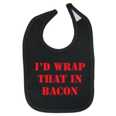 Tasty-Threads-Unisex-Baby-Id-Wrap-That-In-Bacon-Cotton-Baby-Bib-Black-0