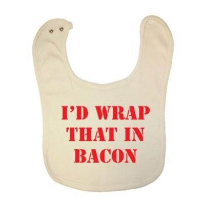 Tasty-Threads-Unisex-Baby-Id-Wrap-That-In-Bacon-Organic-Baby-Bib-0