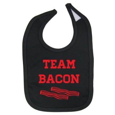 Tasty-Threads-Unisex-Baby-Team-Bacon-Cotton-Baby-Bib-Black-0