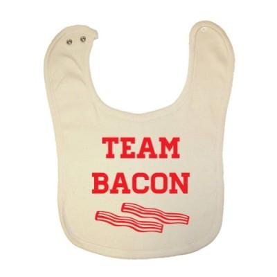 Tasty-Threads-Unisex-Baby-Team-Bacon-Organic-Baby-Bib-0