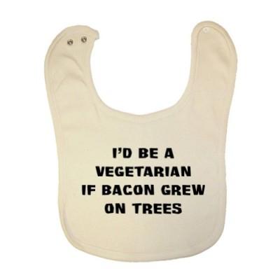 Tasty-Threads-Unisex-Baby-Vegetarian-Bacon-Grew-On-Trees-Organic-Baby-Bib-0