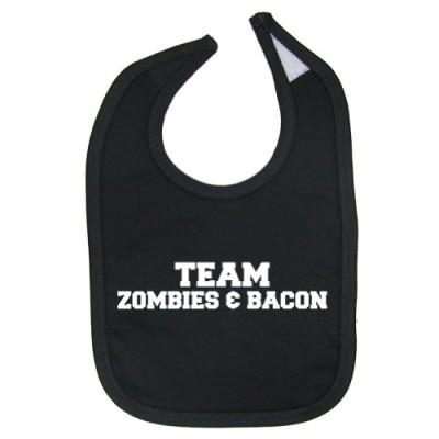 Zombie-Underground-Unisex-Baby-Team-Zombies-Bacon-Cotton-Baby-Bib-Black-0
