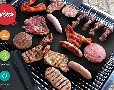 Quiseen-BBQ-Grill-Mat-Set-of-2-Mats-High-Quality-Thick-Durable-Non-Stick-Heat-Resistant-and-Dishwasher-Safe-0