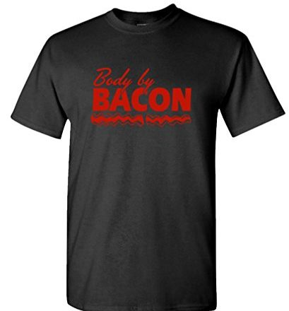 BODY-BY-BACON-Mens-Cotton-T-Shirt-0