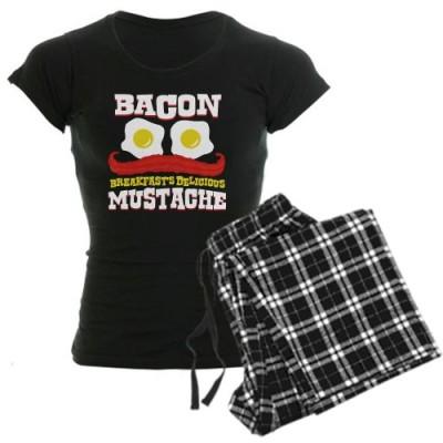 CafePress-Bacon-Mustache-Womens-Dark-Pajamas-Womens-Dark-Pajamas-0
