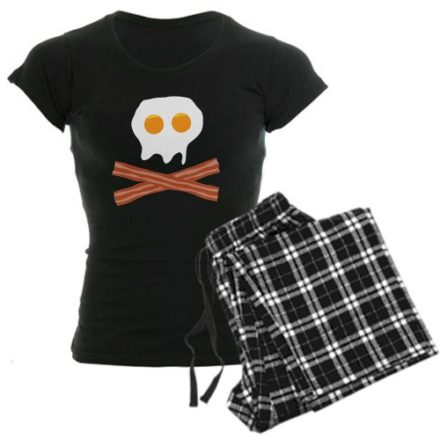 CafePress-Eggs-Bacon-Skull-Womens-Dark-Pajamas-Womens-Dark-Pajamas-0