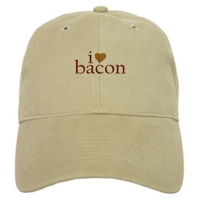 CafePress-I-Love-Bacon-Cap-0