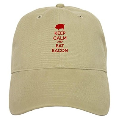 CafePress-Keep-calm-and-eat-bacon-Cap-0