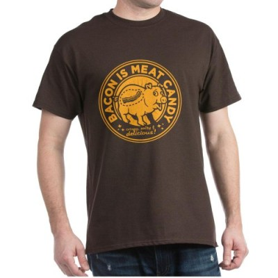 CafePress-bacon-is-meat-candy-Dark-T-Shirt-0