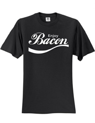 Enjoy-Bacon-T-Shirt-Slogan-Humorous-Tee-Shirt-0
